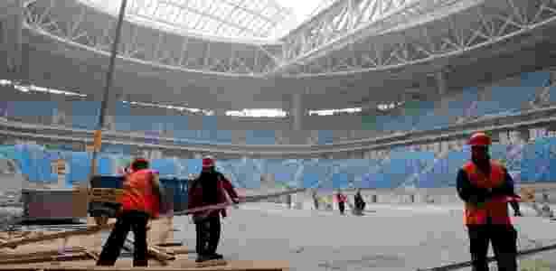 Fifa estima que estádio de São Petersburgo para a Copa 2018 pode se tornar um dos mais caros da história -  REUTERS/Pawel Kopczynski  -  REUTERS/Pawel Kopczynski