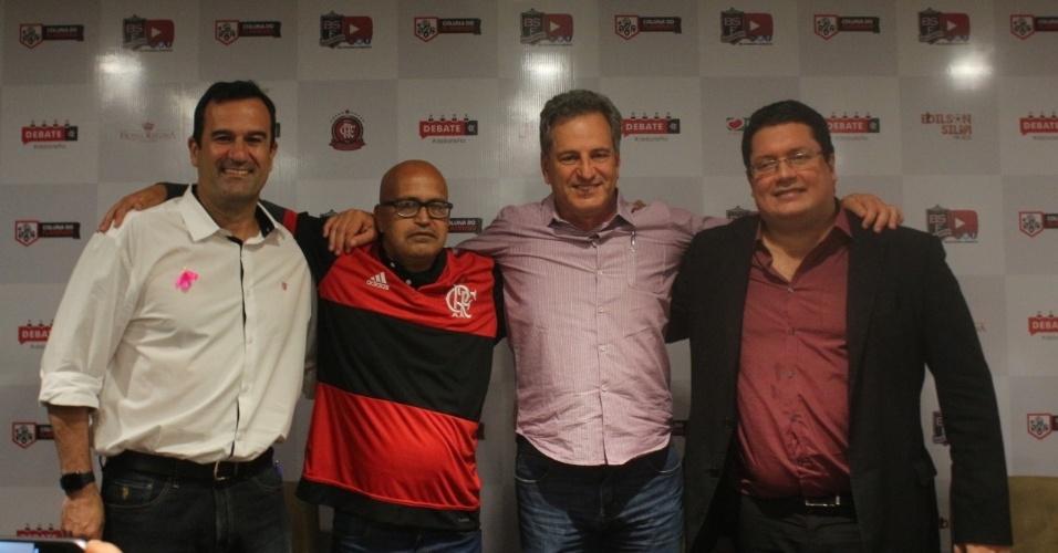 Lomba, Peruano, Landim e Vargas: os quatro candidatos à presidência do Flamengo