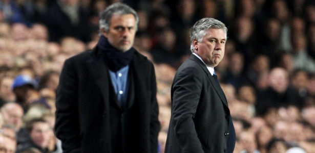 Carlo Ancelotti e José Mourinho já se enfrentaram diversas vezes por outras equipes - Phil Cole/Getty Images
