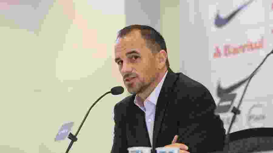 Rodrigo Caetano, diretor executivo de futebol do Inter, em entrevista no Beira-Rio - Ricardo Duarte/Inter