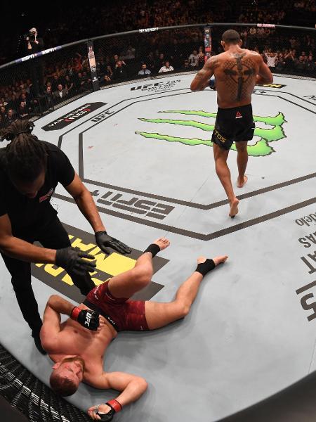 Thiago Marreta vence Jan Blachowicz no UFC Fight Night em Praga, na República Tcheca - Jeff Bottari/Zuffa LLC/Zuffa LLC via Getty Images