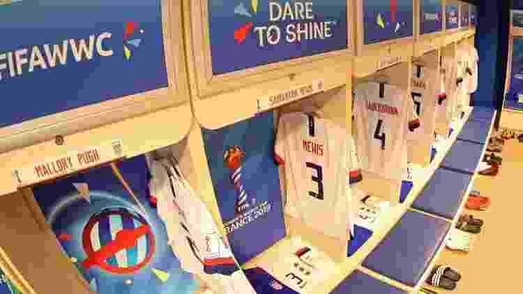Entre as 14 seleções vestidas pela Nike na Copa 2019, apenas seis têm camisas à venda no Brasil: Brasil, EUA (foto), Austrália, Inglaterra, França e Holanda - @USWNT/Twitter