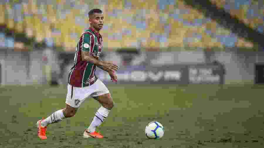 Allan defendeu o Fluminense em 2019. O jogador se destacou pela equipe e foi contratado pelo Atlético-MG - Lucas Mercon/Fluminense FC