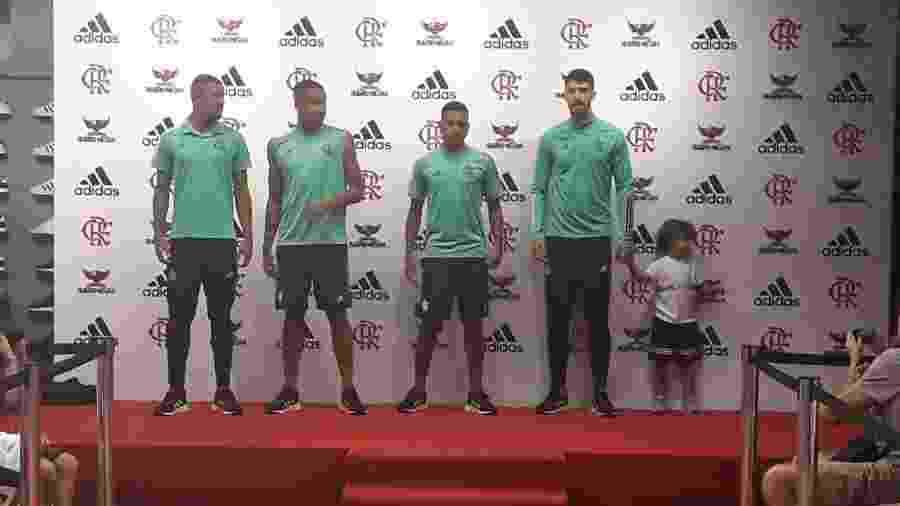 Flamengo apresenta novos uniformes da Adidas em festa de lançamento nesta quinta-feira - Alexandre Araújo/UOL Esporte