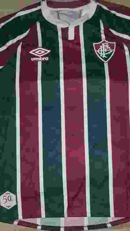 Nova camisa tricolor do Fluminense feita pela Umbro - Divulgação - Divulgação