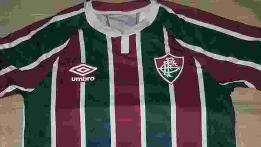 Nova camisa tricolor do Fluminense feita pela Umbro - Divulgação