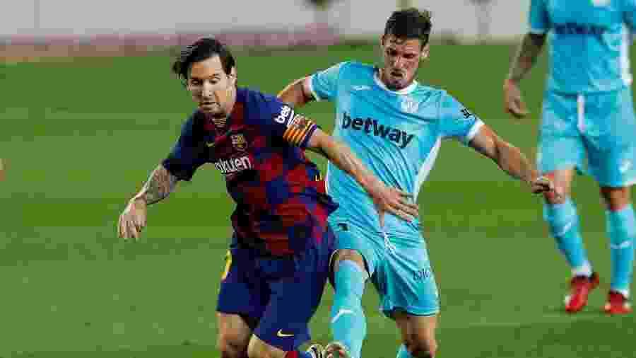 Messi, durante partida entre Barcelona e Leganés, pelo Campeonato Espanhol - REUTERS/Albert Gea