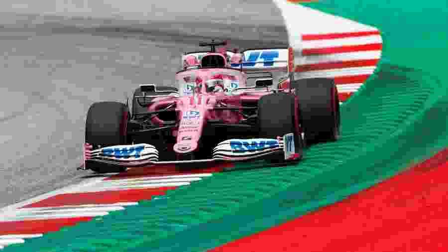 Sergio Perez, da Racing Point, na pista da Áustria - Racing Point/Divulgação