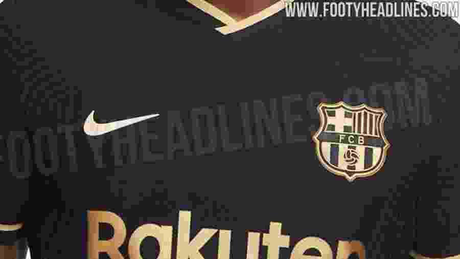 Uniforme com detalhes dourados deve ser o reserva da próxima temporada - Footy Headlines/Reprodução