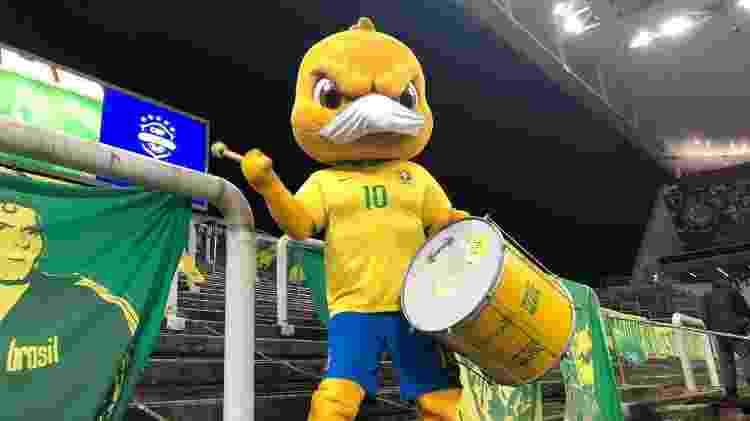 Canarinho Pistola na Neo Química Arena, na estreia da seleção nas Eliminatórias para a Copa - Divulgação/CBF - Divulgação/CBF