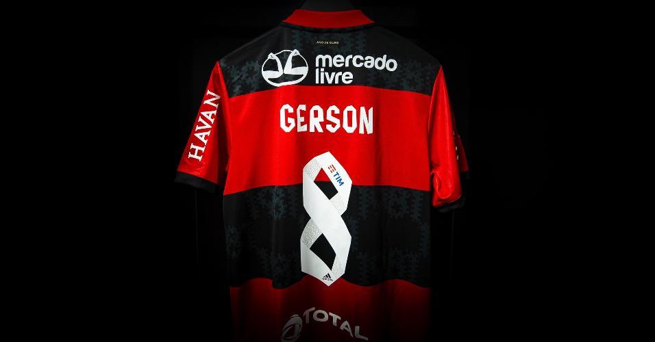 Camisa do meio-campista Gerson para a final entre Flamengo e Fluminense