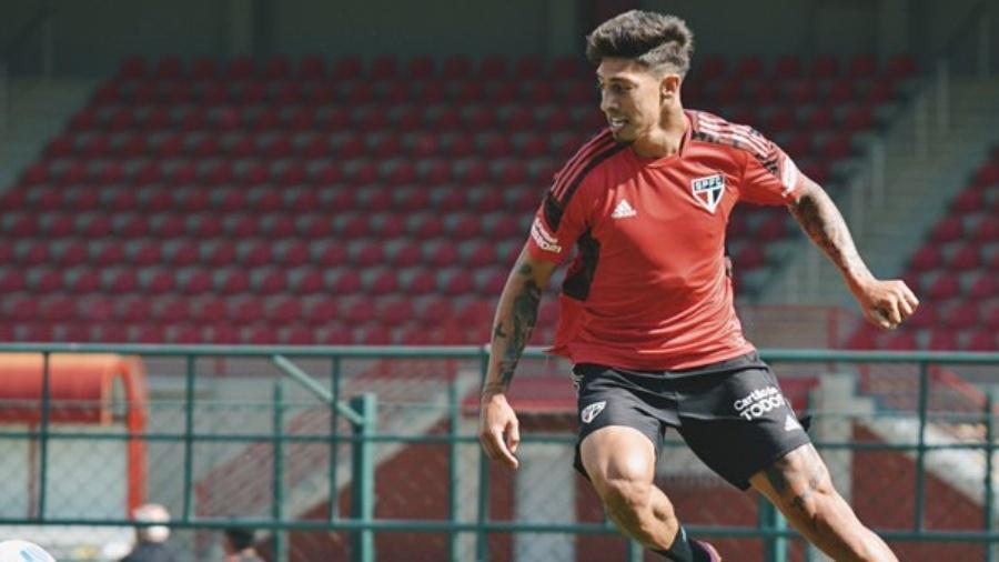 Rigoni faz o primeiro treino com o São Paulo - Erico Leonan / saopaulofc