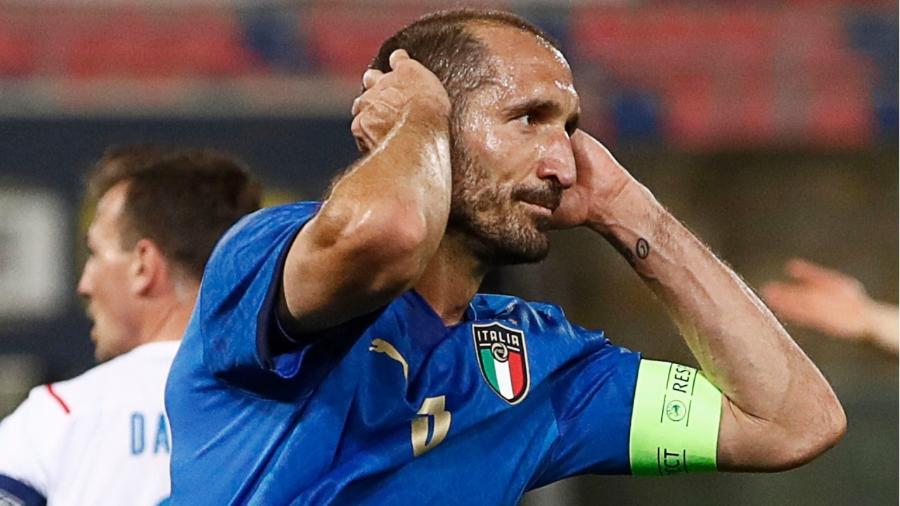 Zagueiro Giorgio Chiellini é o capitão da Itália na Eurocopa - Getty Images