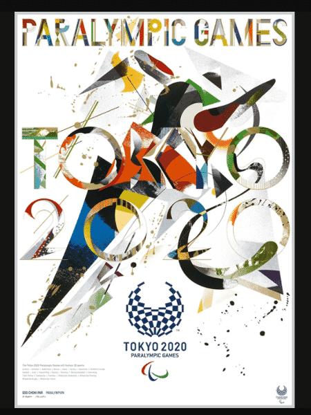 Pôster oficial dos Jogos Paralímpicos de Tóquio 2020 - Divulgação - Divulgação