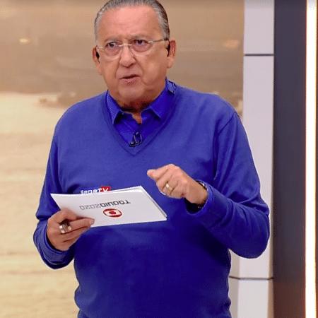 Galvão Bueno, narrador do Grupo Globo - Transmissão