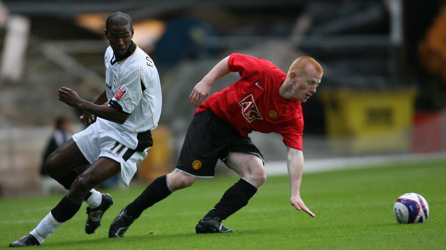 Richard Eckersley atuando pelo Manchester United em 2007 - GettyImages