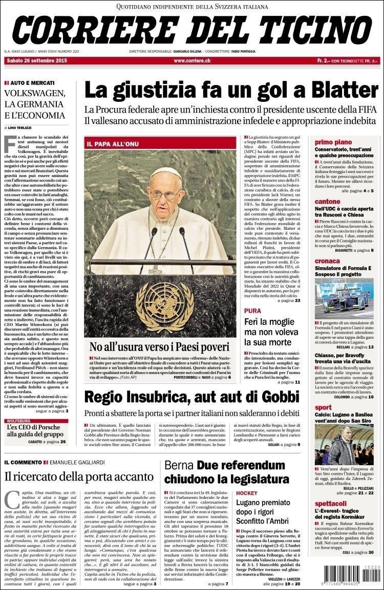 Corriere del Ticino (Suíça):