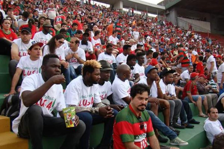 Portuguesa recebeu refugiados no Canindé para partida contra o Tombense pela Série C