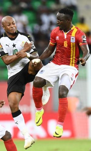 Tony Mawejje, da seleção de Uganda, na Copa Africana de Nações 2017