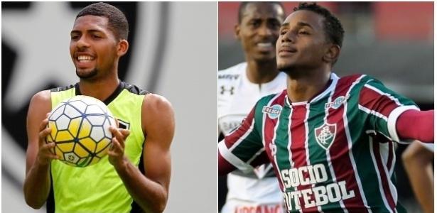 Matheus Fernandes (e) e Wendel (d) são armas de Botafogo e Fluminense