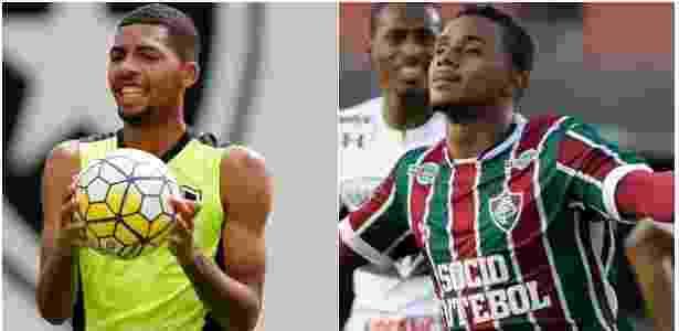Matheus Fernandes (e) e Wendel (d) são armas de Botafogo e Fluminense  Imagem  Montagem UOL b3151dcd6311d