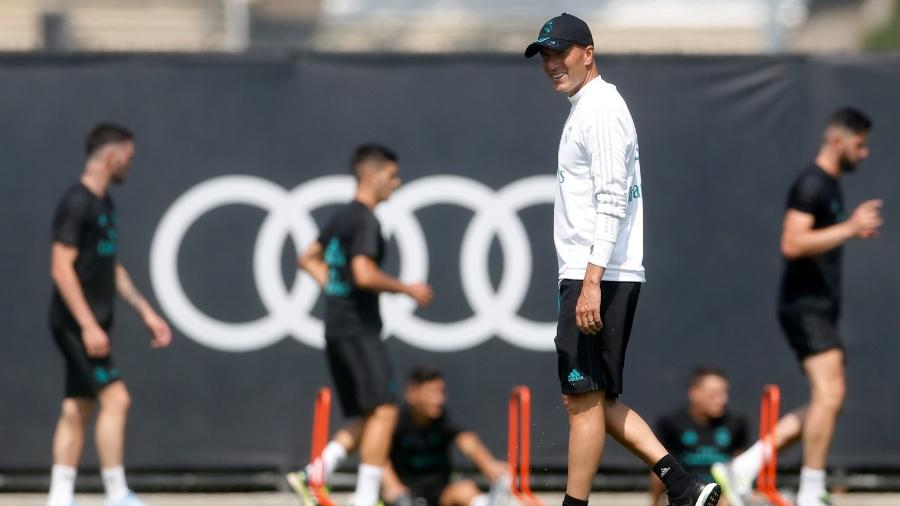 Zinedine Zidane comanda treino do Real Madrid na UCLA - Lucy Nicholson/Reuters