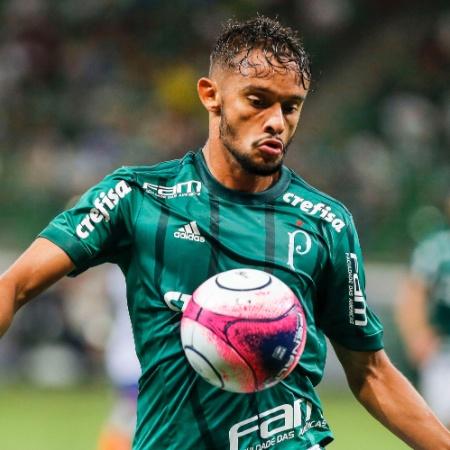 Gustavo Scarpa em ação pelo Palmeiras contra o São Caetano; meia acertou sua permanência - Ale Cabral/AGIF