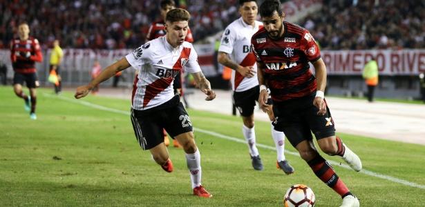 Henrique Dourado foi o pior jogador do Flamengo no empate com o River Plate