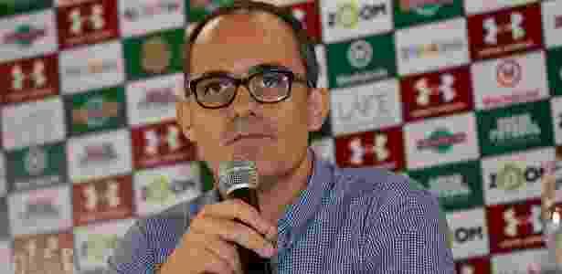Presidente Pedro Abad em entrevista coletiva no Fluminense - Lucas Merçon/Fluminense F.C