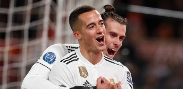 Gareth Bale e Lucas Vázquez marcaram pelo Real na vitória por 2 a 0 sobre a Roma