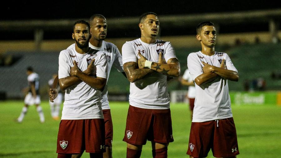 Jogadores do Fluminense voltaram aos treinos mesmo sem o pagamento de salários - LUCAS MERÇON / FLUMINENSE F.C.