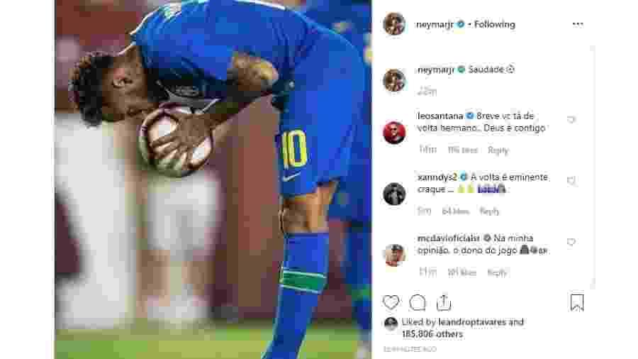 Reprodução/Instagram @neymarjr