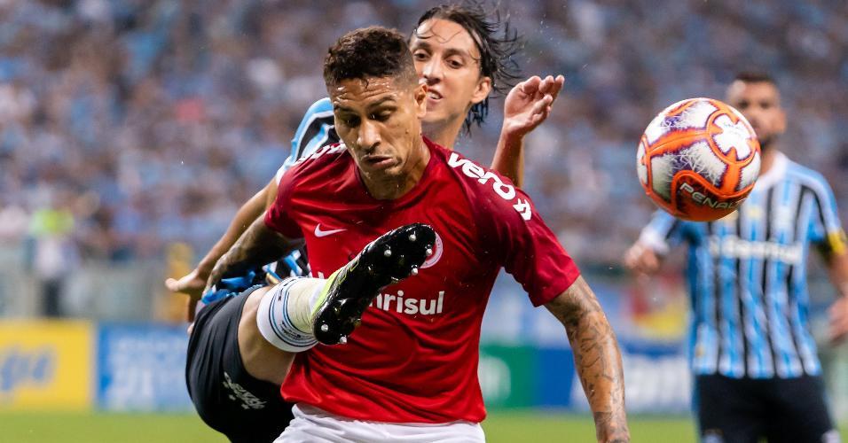 Guerrero, durante partida entre Inter e Grêmio
