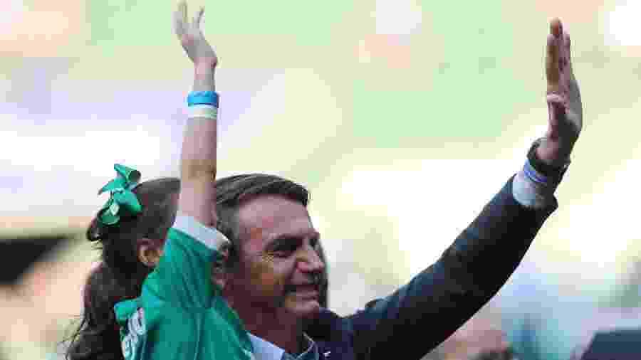 Jair Bolsonaro foi ao estádio ver Palmeiras x Vasco e dividiu público entre apoio e vaias - REUTERS/Amanda Perobelli