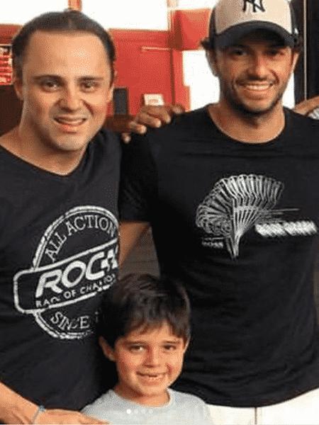 Felipe Massa ao lado do ex-piloto Tuka Rocha, em foto postada no Instagram - Reprodução/Instagram