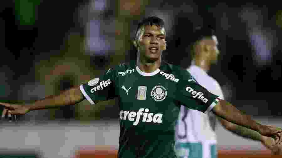 Gabriel Verón comemora gol do Palmeiras contra o Goiás; em dois jogos, ele fez algo que Jesus demorou 15 - Cesar Greco/Palmeiras