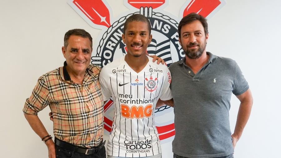 Matheus Davó, atacante do Corinthians, atua entre os titulares diante do Internacional - Daniel Augusto Jr./Agência Corinthians