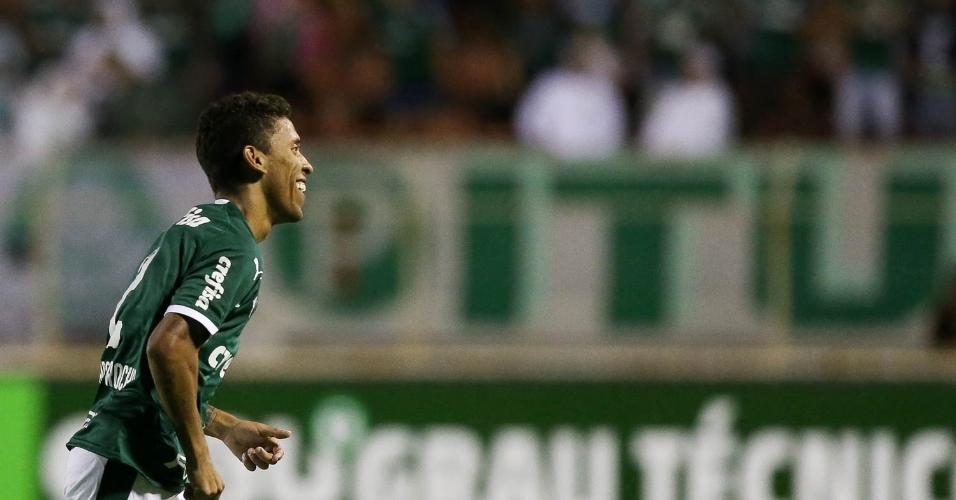 Marcos Rocha comemora gol do Palmeiras contra o Ituano