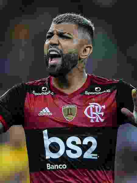 Gabigol pede calma durante partida do Flamengo contra o Barcelona-EQU, pela Libertadores - Thiago Ribeiro/AGIF