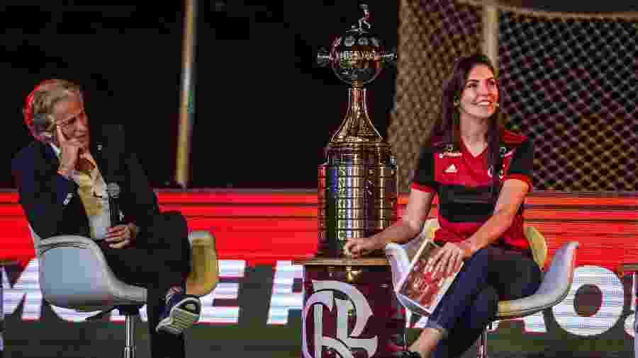 Glenda Kozlowski entrevista o técnico Jorge Jesus em live do Flamengo - Marcelo Cortes / Flamengo