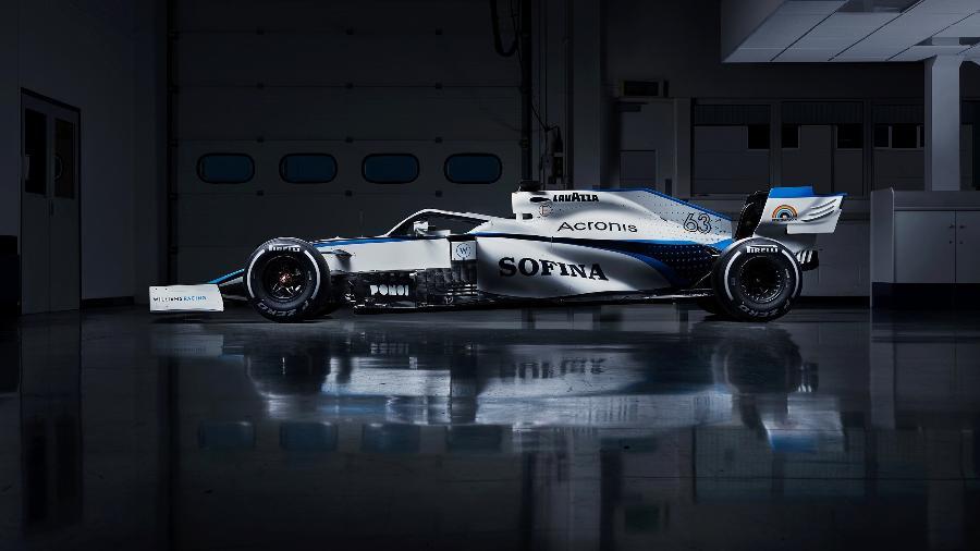 Pintura do carro da Williams na temporada 2020 da F1 - Divulgação