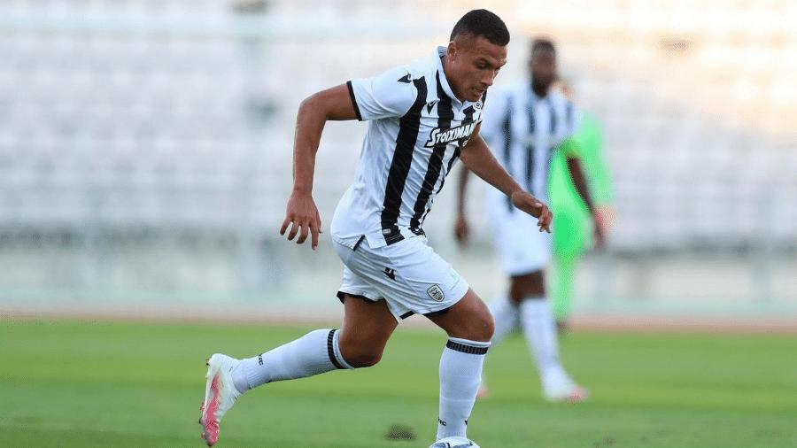 Revelado pelo Corinthians, atacante Leo Jabá atualmente defende o PAOK, da Grécia - Divulgação/PAOK