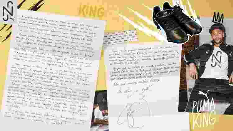 Neymar Carta Puma King - Divulgação - Divulgação