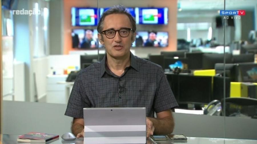Marcelo Barreto compara Flamengo a Vasco de Eurico Miranda - Reprodução/SporTV
