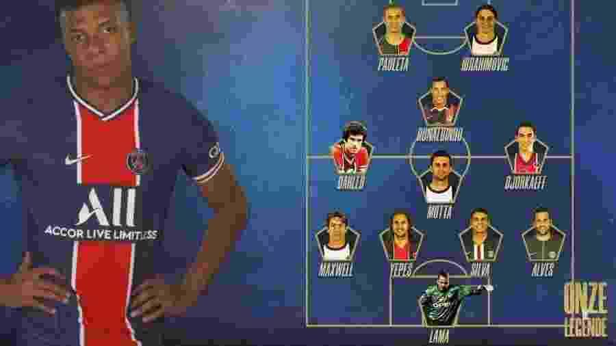 Mbappé optou por não se colocar entre os maiores da história do PSG - Reprodução