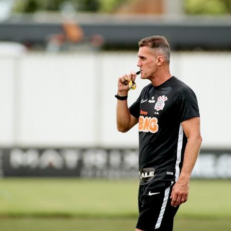 17.jan.21 - Vagner Mancini comanda treino do Corinthians no CT Dr. Joaquim Grava - Rodrigo Coca/Agência Corinthians
