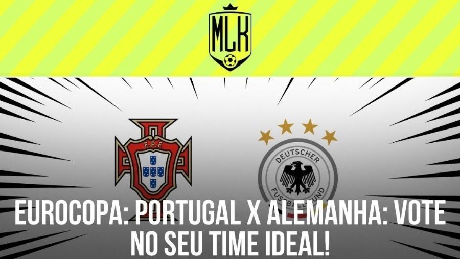 Portugal x Alemanha acontece hoje (19), às 13h (de Brasília), na Allianz Arena - Arte/UOL