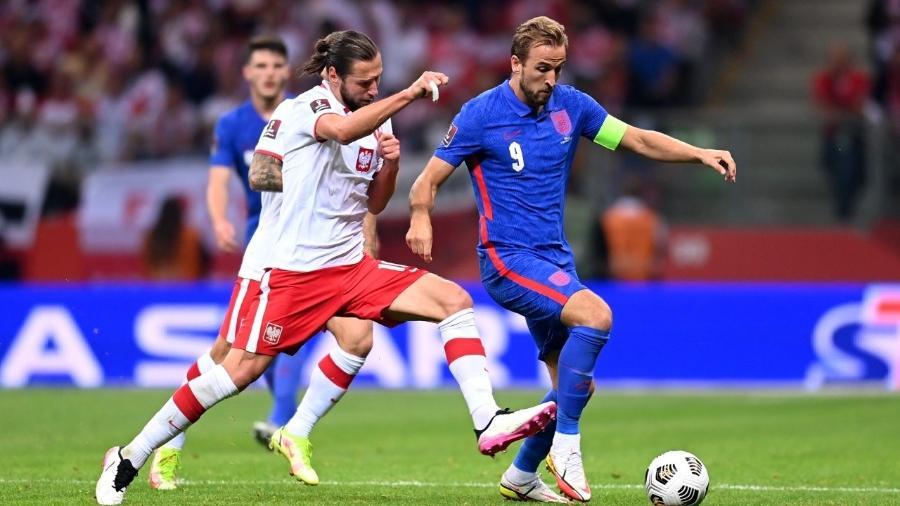 Harry Kane marcou o gol da vitória da Inglaterra contra a Polônia - Michael Regan/Getty Images