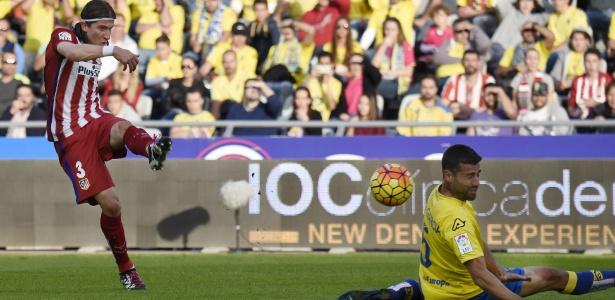 Filipe Luis marcou o primeiro gol do Atlético de Madri contra o Las Palmas