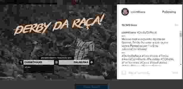 Derby da Raça - Reprodução/Instagram - Reprodução/Instagram